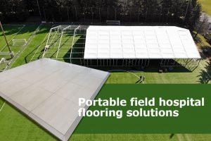 Connecta-floor-field-hospital-on-grass-field